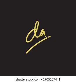 Da Initial handwriting logo vector