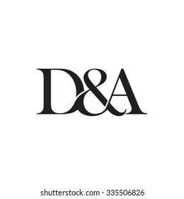 D&A Initial logo. Ampersand monogram logo