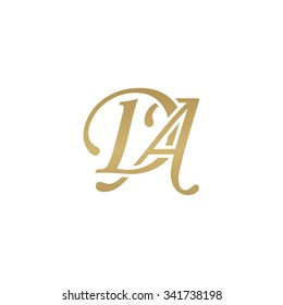 DA initial monogram logo