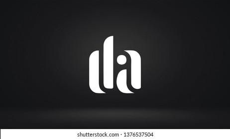 DA logo design template vector letter