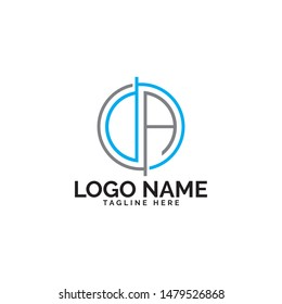 DA logo design vector template