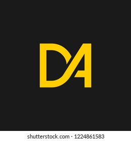 DA logo designed with letter D A in vector format.