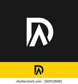 DA logo designed with Letter D and A in vector format.