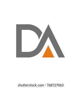 DA logo initial letter design template vector illustration