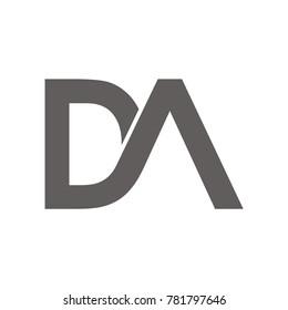 DA logo initial letter design template illustration