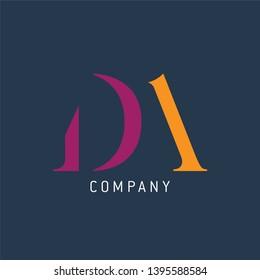 DA logo template. Company logo.