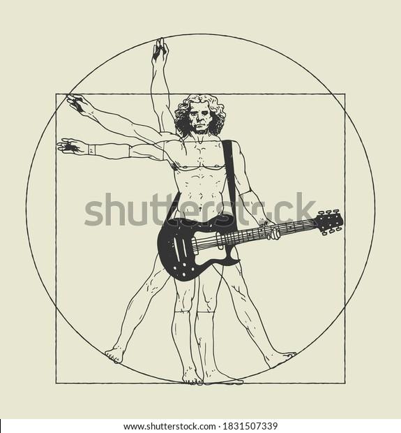 da-vinci-man-playing-rock-600w-183150733