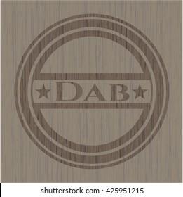 Dab retro wood emblem