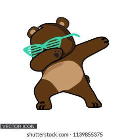 Dabbing Bear Vector Desin