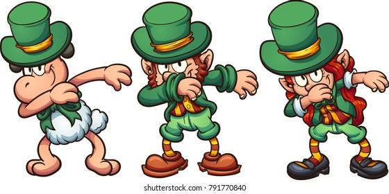 Leprechaun images stock photos vectors shutterstock dabbing sheep and leprechauns vector clip art illustration with simple gradients each on a altavistaventures