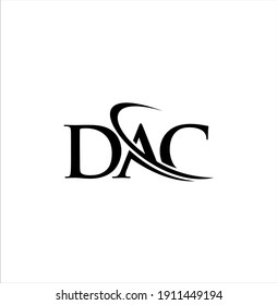 DAC letter logo design, initial ac vector with swoosh