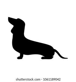 dachshund dog, logo element