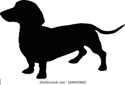 Dachshund Dog Silhouette Vector Found In Map Of Europe