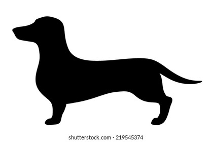 dachshund silhouette images stock photos vectors shutterstock
