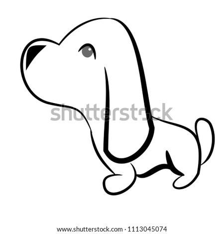 Dachshund Outline Vector Isolated Stock Vector Royalty Free