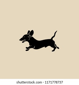 Dachshund symbol - isolated vector illustration