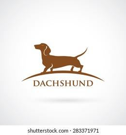 Dachshund symbol - vector illustration