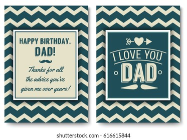 Happy birthday daddy images stock photos vectors shutterstock dad happy birthday card set i love you words for greeting card or festive poster m4hsunfo