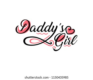 Daddy's girl tattoo design isolated over white