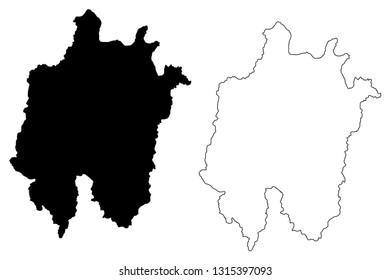 Daejeon (South Korea, Republic of Korea, ROK, Special cities of South Korea) map vector illustration, scribble sketch Daejeon Metropolitan City map