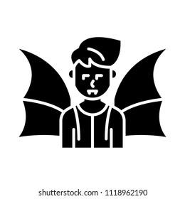 Daemon black icon concept. Daemon flat  vector symbol, sign, illustration.