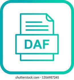 DAF File Document Icon