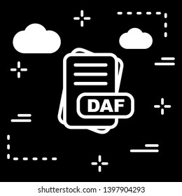 DAF File Format Icon  For Your Project