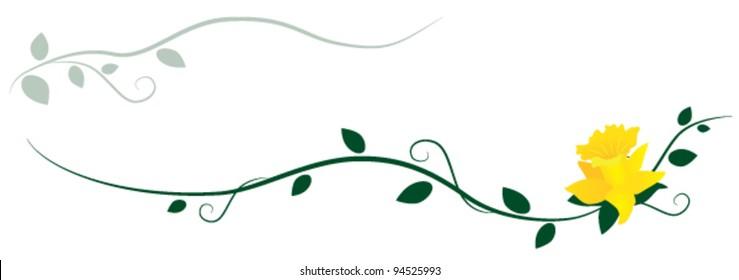 Daffodil decorative ornament