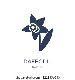 Daffodil icon. Trendy flat vector Daffodil icon on white background from nature collection, vector illustration can be use for web and mobile, eps10
