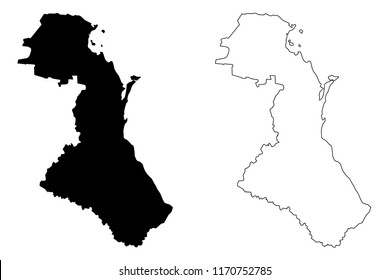 Dagestan (Russia, Subjects of the Russian Federation, Republics of Russia) map vector illustration, scribble sketch  Republic of Dagestan map
