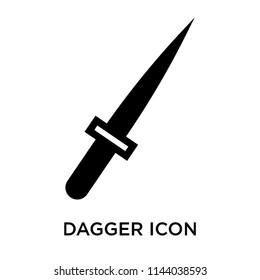 Dagger icon vector isolated on white background for your web and mobile app design, Dagger logo concept