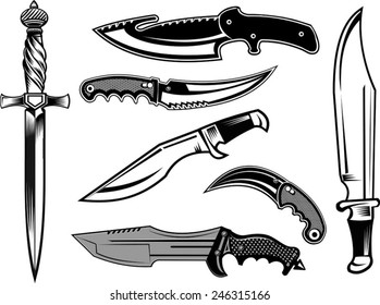 dagger and tactical knives