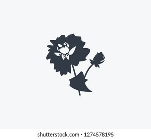 Dahlia icon isolated on clean background. Dahlia icon concept drawing icon in modern style. Vector illustration for your web mobile logo app UI design.