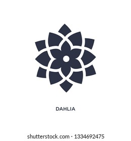 dahlia icon. Simple element illustration from nature concept. dahlia editable symbol design on white background. Can be use for web and mobile.