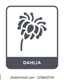 dahlia icon vector on white background, dahlia trendy filled icons from Nature collection, dahlia simple element illustration