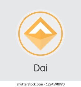 Dai DAI . - Vector Icon of Cryptocurrency