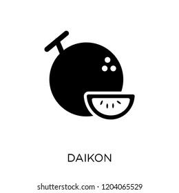 Daikon icon. Daikon symbol design from Fruitandvegetables collection. Simple element vector illustration on white background.