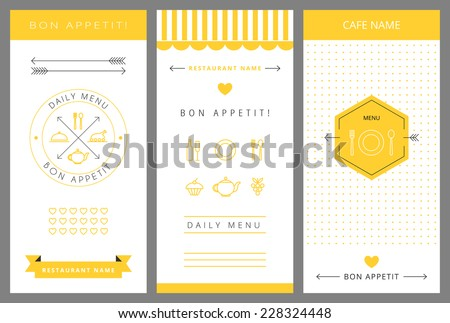 Daily Menu Design Template Vector Isolated Illustration