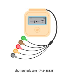 Daily monitoring of ECG. Holter for daily use. The device monitors the bleeding of the heart. And can prevent a heart attack.