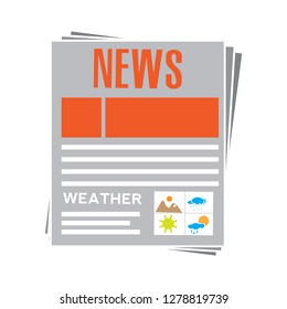 daily newspaper icon-newsletter icon-article symbol-reportage Illustration-media Illustration