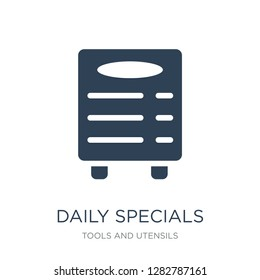 daily specials board icon vector on white background, daily specials board trendy filled icons from Tools and utensils collection, daily specials board vector illustration