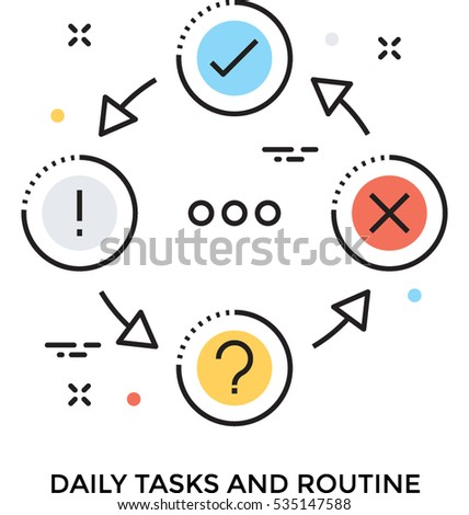 daily task vector icon stock vector royalty free 535147588