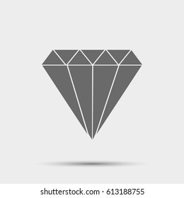 Daimond web icon ilustration vector symbol