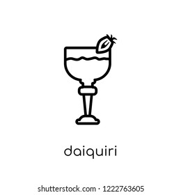daiquiri icon. Trendy modern flat linear vector daiquiri icon on white background from thin line Drinks collection, outline vector illustration