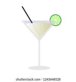 Daiquiry cocktail vector icon