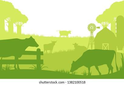 dairy farming in a small village