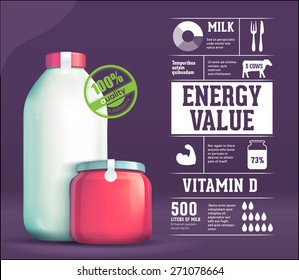 Dairy products infographics