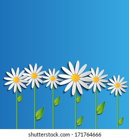 Daisies background of flowers vector