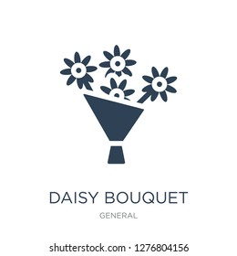 daisy bouquet icon vector on white background, daisy bouquet trendy filled icons from General collection, daisy bouquet vector illustration