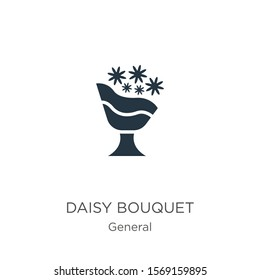 Daisy bouquet icon vector. Trendy flat daisy bouquet icon from general collection isolated on white background. Vector illustration can be used for web and mobile graphic design, logo, eps10